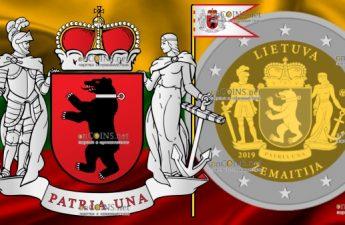 Литва монета 2 евро Жемайтия