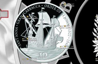 Мальта монета 10 евро Гран-Карракка Ордена Святого Иоанна