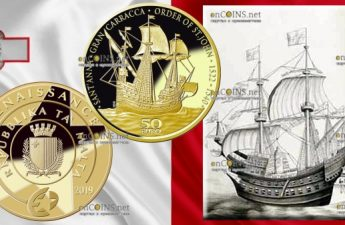 Мальта монета 50 евро Гран-Карракка Ордена Святого Иоанна