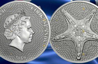 Острова кука монета 1 доллар Звезда