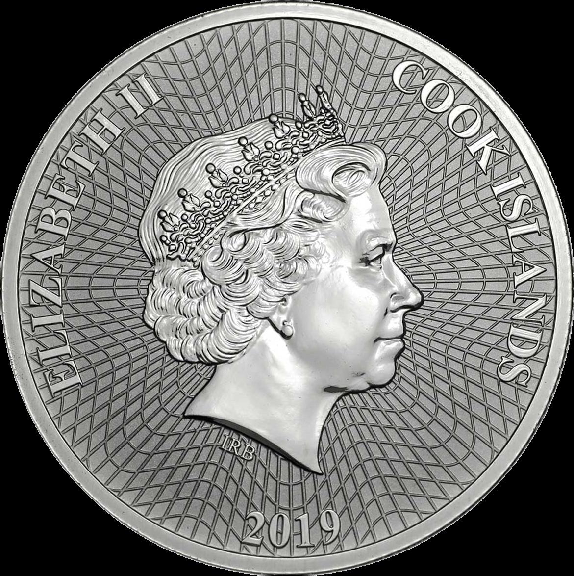 Острова кука монета 1 доллар Звезда, аверс
