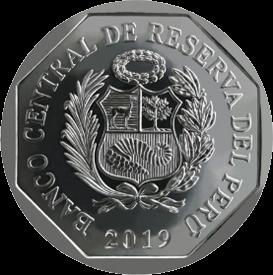 Перу монета 1 соль, 2019 год, аверс