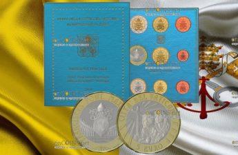 Ватикан набор циркуляционных монет 2019 года с памятной монетой 5 евро XXXIV Всемирный день молодежи в Панаме