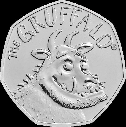 Великобритания монета 50 пенсов Груффало