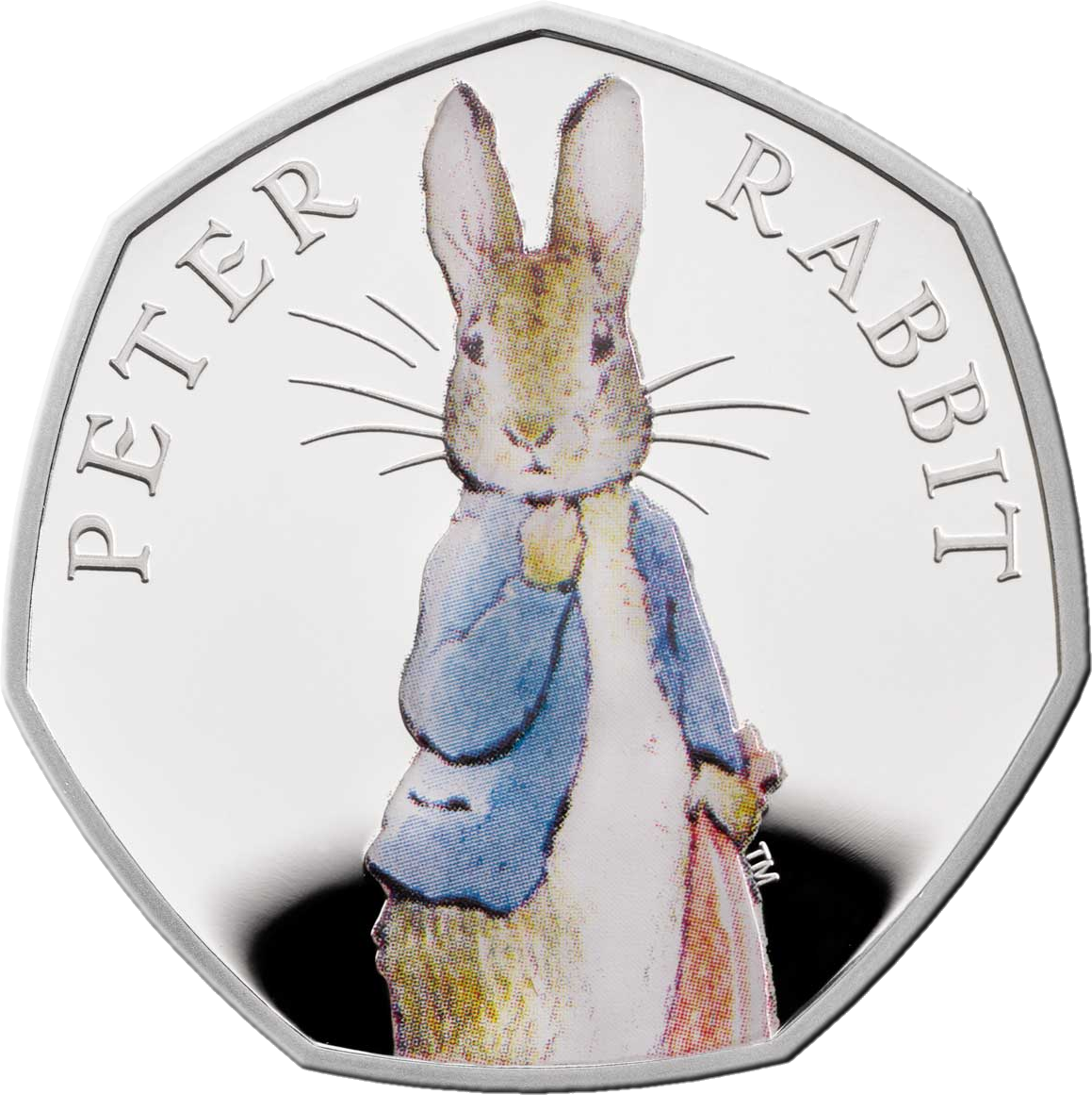 Великобритания монета 50 пенсов Кролик Питер