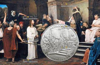 Венгрия монета 10 000 форинтов Михай Мункачи
