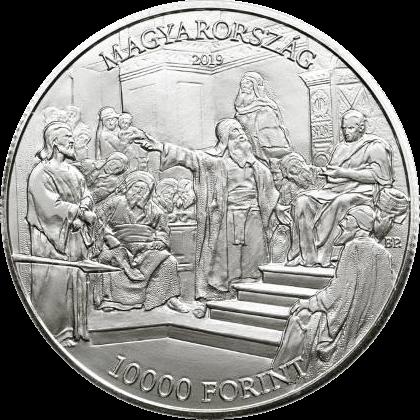 Венгрия монета 10 000 форинтов Михай Мункачи, аверс