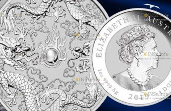 Австралия монета 1 доллар Двойной дракон