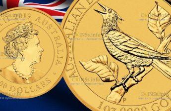 Австралия монета 100 долларов Манукодии