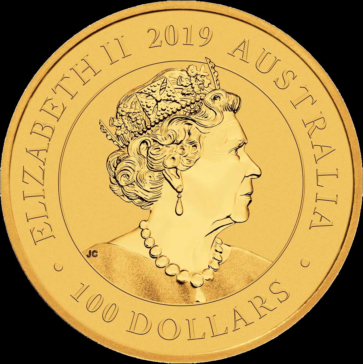 Австралия монета 100 долларов Манукодии, аверс