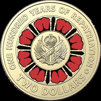 Австралия монета 2 доллара 100 лет лет репатриации, реверс