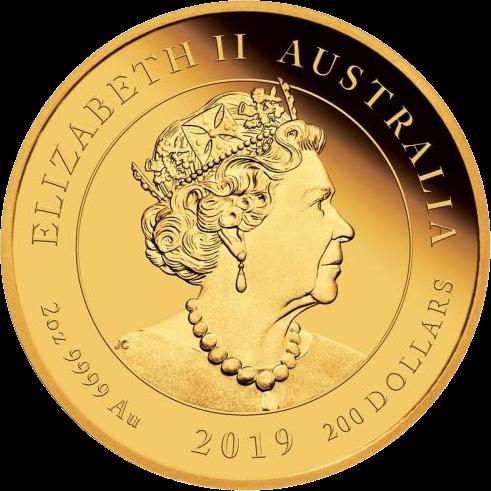 Австралия монета 200 долларов 200 лет Викторианской эпохе, аверс