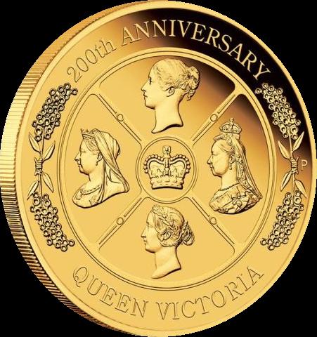 Австралия монета 200 долларов 200 лет Викторианской эпохе, реверс