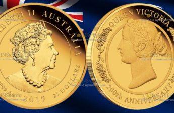 Австралия монета 25 доллара 200 лет Викторианской эпохе