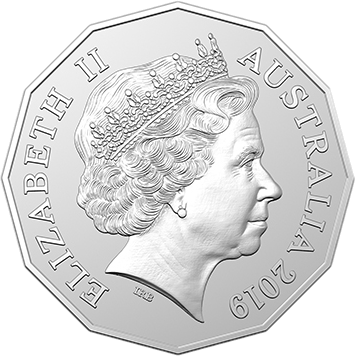 Австралия монета 50 центов 2019 год, аверс