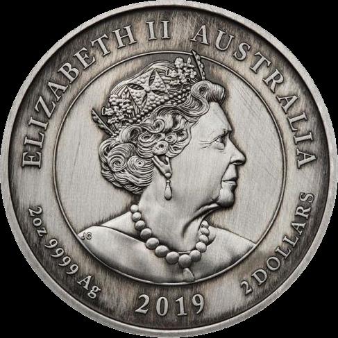 Австрания монета 2 доллара 200 лет Викторианской эпохе, аверс