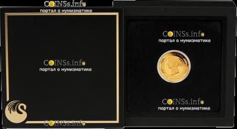 Австрания монета 25 долларов 200 лет Викторианской эпохе, подарочная упаковка