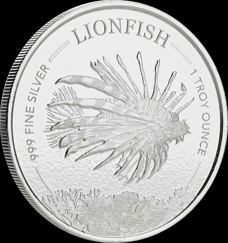 Барбадос монета 1 доллар Крылатка-зебра, реверс