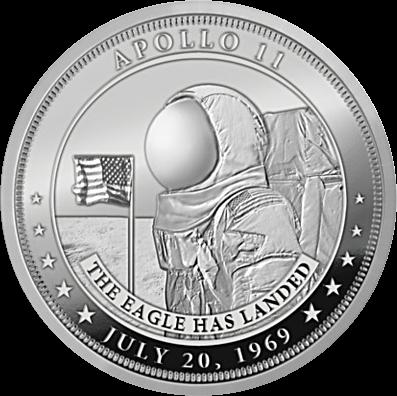 Фиджи монета 1 доллар 50-летие высадки человека на Луну, аверс