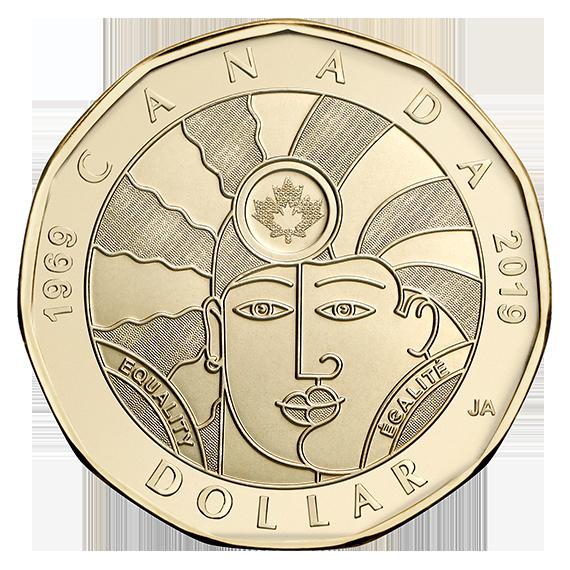 Канада монета 1 доллар 50-летие декриминализации гомосексуализма в Канаде, реверс