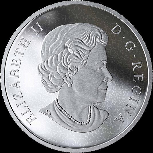 Канада монета 10 долларов 10 кленовых листьев, аверс