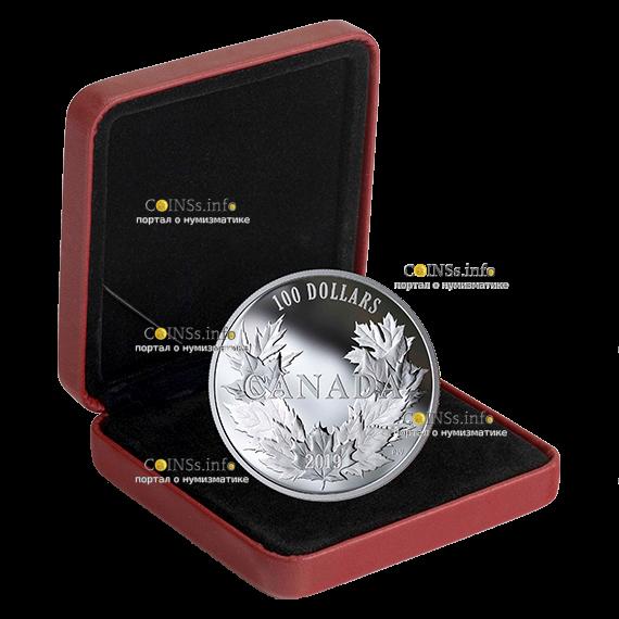 Канада монета 10 долларов 10 кленовых листьев, подарочная упаковка