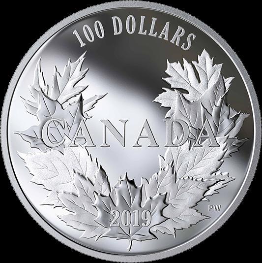 Канада монета 10 долларов 10 кленовых листьев, реверс