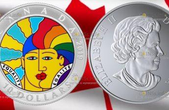 Канада монета 10 долларов 50-летие декриминализации гомосексуализма в Канаде