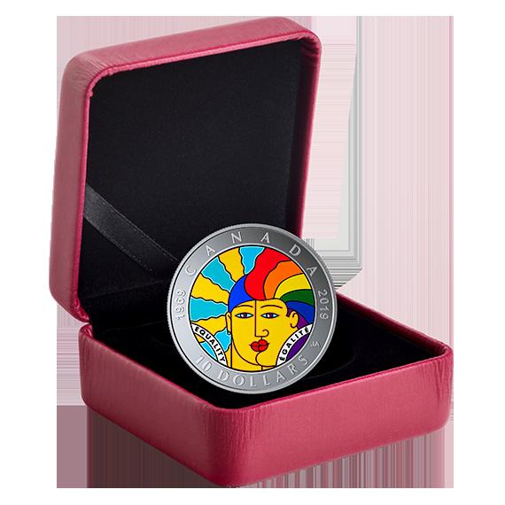 Канада монета 10 долларов 50-летие декриминализации гомосексуализма в Канаде, подарочная упаковка