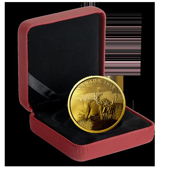 Канада монета 200 долларов Лось, подарочная упаковка