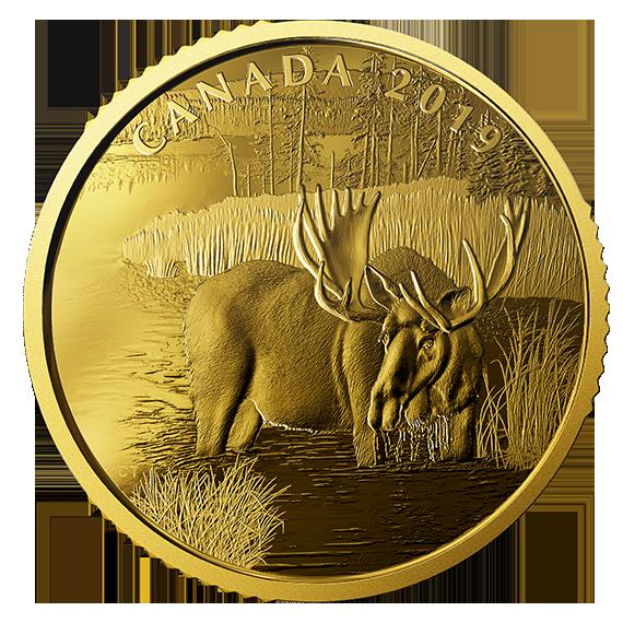Канада монета 200 долларов Лось, реверс