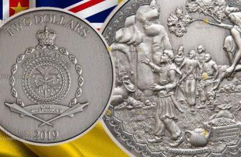 Ниуэ монета 2 доллара Али-Баба и сорок разбойников