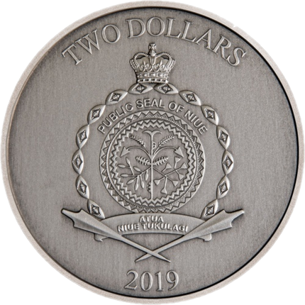 Ниуэ монета 2 доллара Али-Баба и сорок разбойников, аверс