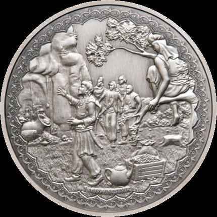 Ниуэ монета 2 доллара Али-Баба и сорок разбойников, реверс