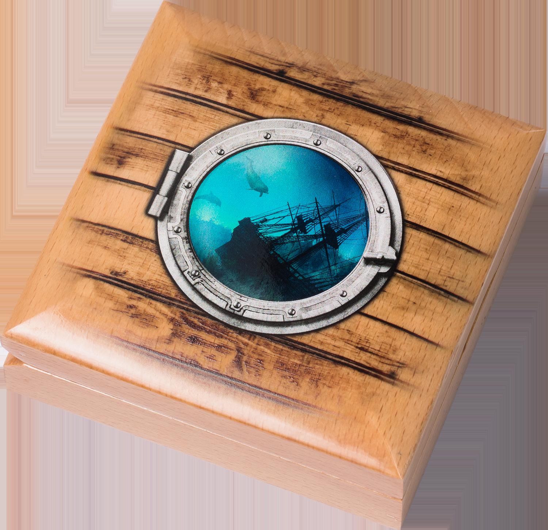 Острова кука 10 долларов Якорь Ярмарка Ветров, подарочная упаковка