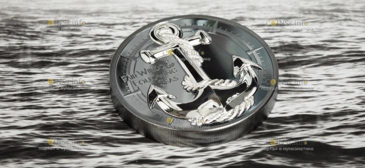 Острова кука 10 долларов Якорь Ярмарка Ветров
