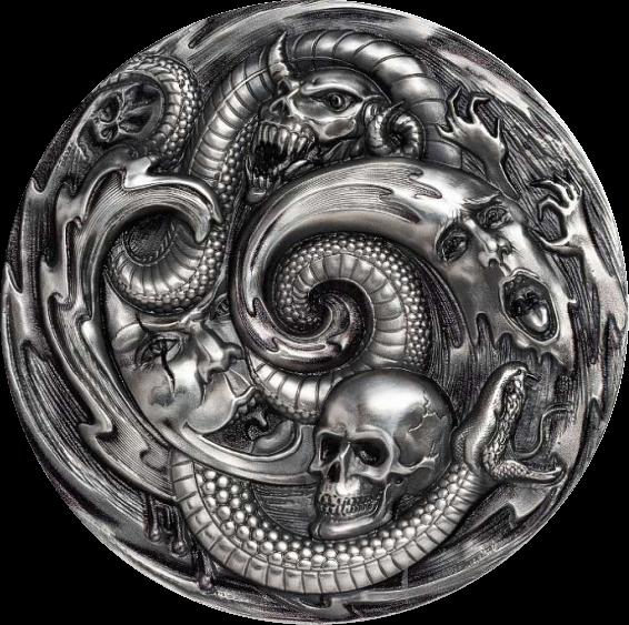 Палау монета 20 долларов Пандора, реверс