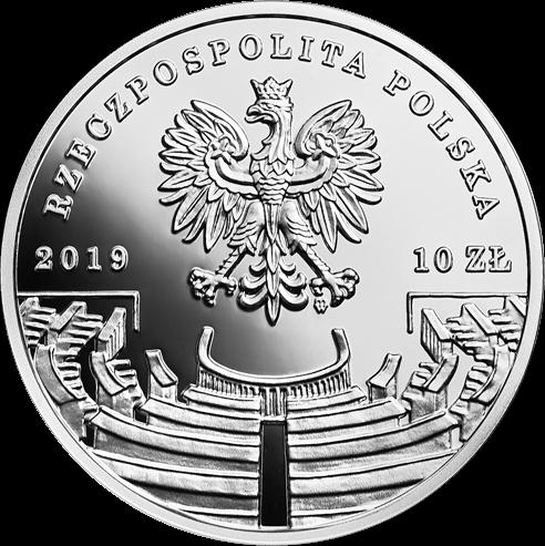 Польша монета 10 злотых Роман Рыбарский, аверс