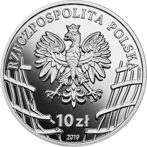 Польша монета 10 злотых Станислав Кашница, аверс