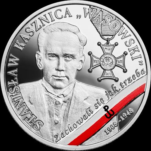 Польша монета 10 злотых Станислав Кашница, реверс