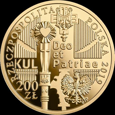 Польша монета 200 злотых 100-летие Люблинского католического университета, аверс