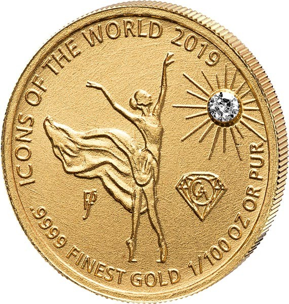 Руанда монета 10 долларов Балерина, реверс