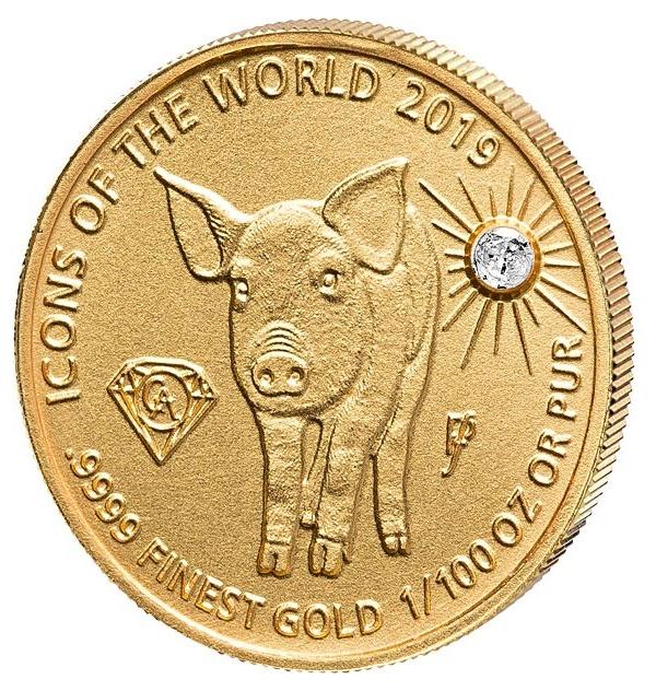Руанда монета 10 долларов Год Свиньи, реверс