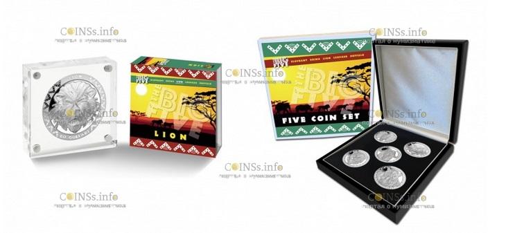 Сьерра Леоне монета 20 долларов лев, подарочная упаковка