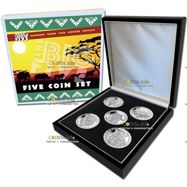 Сьерра Леоне монета 20 долларов носорог, подарочная упаковка