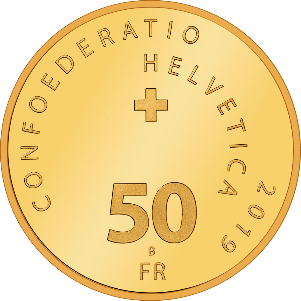 Швейцария монета 50 франков 100-летие локомотивов Крокодил, аверс