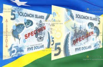 соломоновы острова банкнота 5 долларов 2019 год