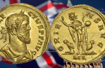 В Англии любитель древности с металлоискателем наткнулся 24-каратную золотую монету