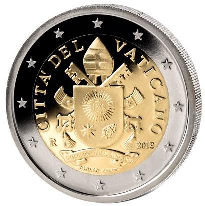 Ватикан монета 2 евро Пасха 2019 - Воскресение Христово, реверс