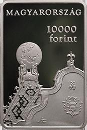 Венгрия монета 10000 форинтов 150 лет со дня основания Геологического института, аверс